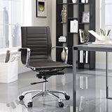 Modway Modern Runway Mid Back Adjustable Computer Office Chair - Minimal & Modern - 16