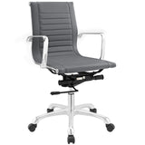 Modway Modern Runway Mid Back Adjustable Computer Office Chair - Minimal & Modern - 9