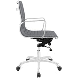 Modway Modern Runway Mid Back Adjustable Computer Office Chair - Minimal & Modern - 10