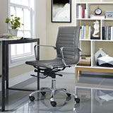 Modway Modern Runway Mid Back Adjustable Computer Office Chair - Minimal & Modern - 12