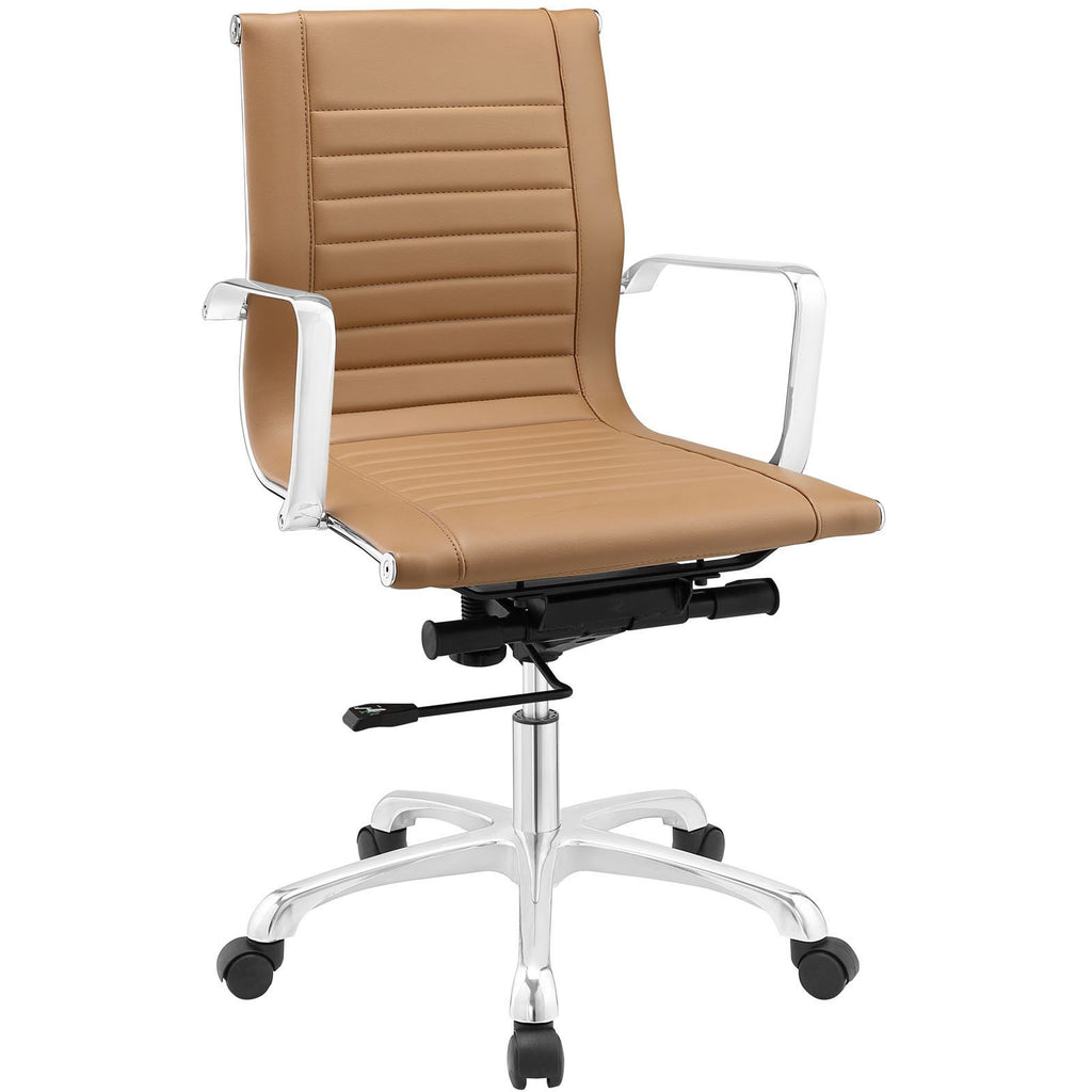 Modway Modern Runway Mid Back Adjustable Computer Office Chair - Minimal & Modern - 1