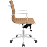 Modway Modern Runway Mid Back Adjustable Computer Office Chair - Minimal & Modern - 2