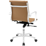 Modway Modern Runway Mid Back Adjustable Computer Office Chair - Minimal & Modern - 3