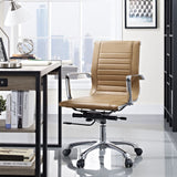 Modway Modern Runway Mid Back Adjustable Computer Office Chair - Minimal & Modern - 4