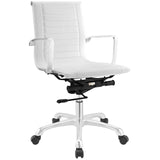 Modway Modern Runway Mid Back Adjustable Computer Office Chair - Minimal & Modern - 5