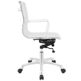 Modway Modern Runway Mid Back Adjustable Computer Office Chair - Minimal & Modern - 6