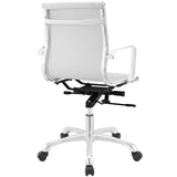 Modway Modern Runway Mid Back Adjustable Computer Office Chair - Minimal & Modern - 7