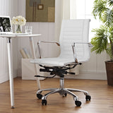 Modway Modern Runway Mid Back Adjustable Computer Office Chair - Minimal & Modern - 8