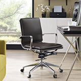 Modway Modern Sage Mid Back Adjustable Computer Office Chair - Minimal & Modern - 16