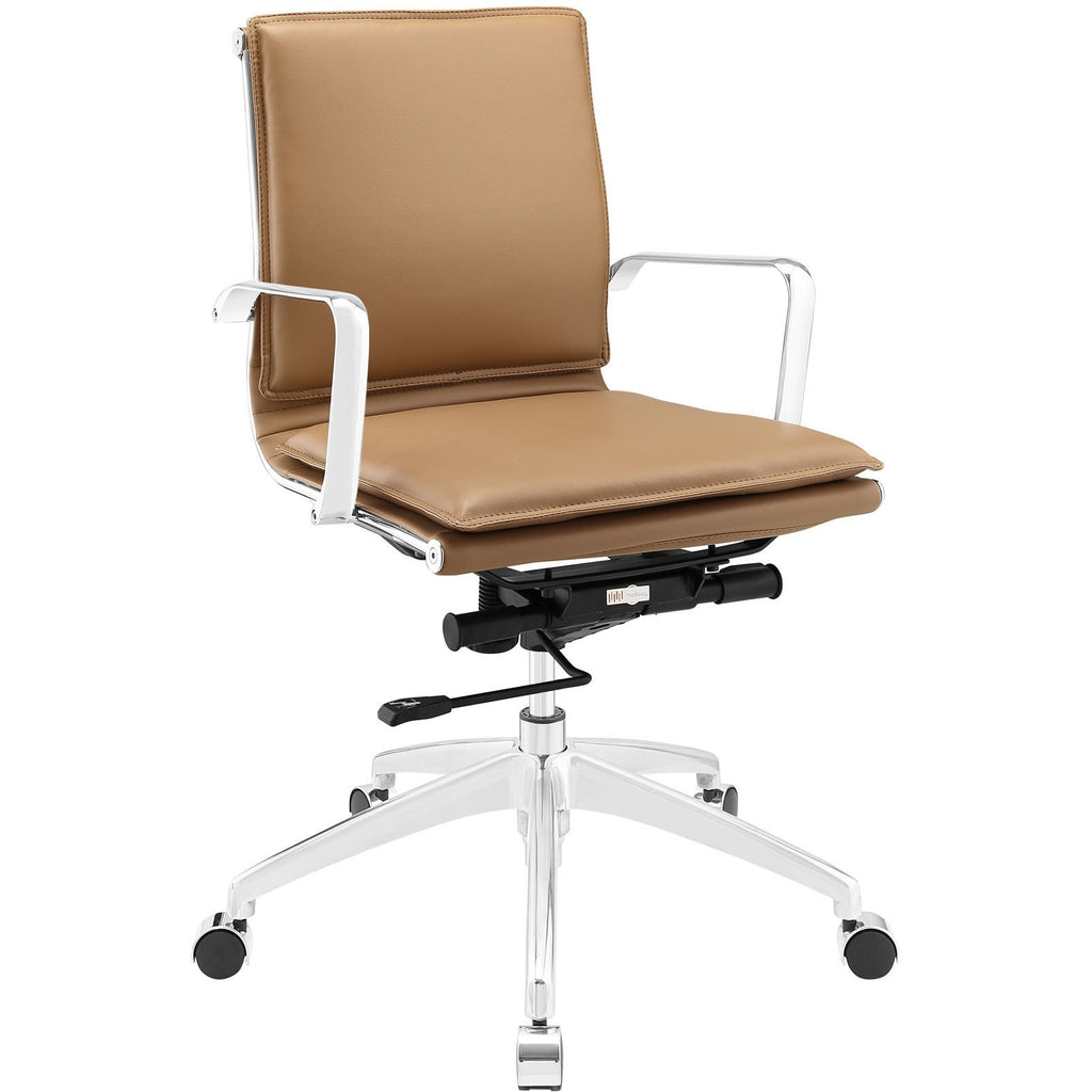 Modway Modern Sage Mid Back Adjustable Computer Office Chair - Minimal & Modern - 1