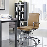 Modway Modern Sage Mid Back Adjustable Computer Office Chair - Minimal & Modern - 4