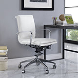 Modway Modern Sage Mid Back Adjustable Computer Office Chair - Minimal & Modern - 8