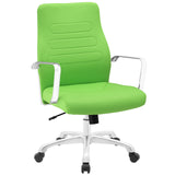 Modway Modern Depict Mid Back Adjustable Computer Aluminium Office Chair - Minimal & Modern - 29