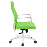 Modway Modern Depict Mid Back Adjustable Computer Aluminium Office Chair - Minimal & Modern - 30