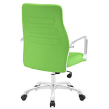 Modway Modern Depict Mid Back Adjustable Computer Aluminium Office Chair - Minimal & Modern - 31