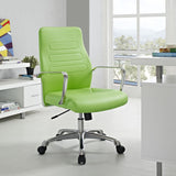 Modway Modern Depict Mid Back Adjustable Computer Aluminium Office Chair - Minimal & Modern - 32