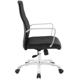 Modway Modern Depict Mid Back Adjustable Computer Aluminium Office Chair - Minimal & Modern - 22