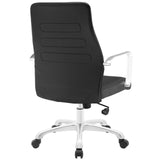 Modway Modern Depict Mid Back Adjustable Computer Aluminium Office Chair - Minimal & Modern - 23