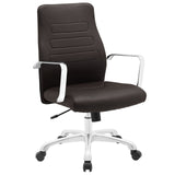 Modway Modern Depict Mid Back Adjustable Computer Aluminium Office Chair - Minimal & Modern - 25