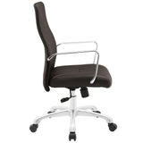 Modway Modern Depict Mid Back Adjustable Computer Aluminium Office Chair - Minimal & Modern - 26