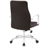 Modway Modern Depict Mid Back Adjustable Computer Aluminium Office Chair - Minimal & Modern - 27