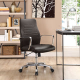 Modway Modern Depict Mid Back Adjustable Computer Aluminium Office Chair - Minimal & Modern - 28