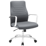 Modway Modern Depict Mid Back Adjustable Computer Aluminium Office Chair - Minimal & Modern - 17