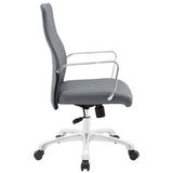 Modway Modern Depict Mid Back Adjustable Computer Aluminium Office Chair - Minimal & Modern - 18