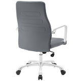 Modway Modern Depict Mid Back Adjustable Computer Aluminium Office Chair - Minimal & Modern - 19