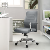 Modway Modern Depict Mid Back Adjustable Computer Aluminium Office Chair - Minimal & Modern - 20