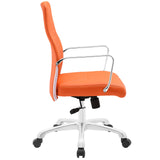 Modway Modern Depict Mid Back Adjustable Computer Aluminium Office Chair - Minimal & Modern - 2