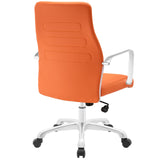 Modway Modern Depict Mid Back Adjustable Computer Aluminium Office Chair - Minimal & Modern - 3