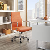 Modway Modern Depict Mid Back Adjustable Computer Aluminium Office Chair - Minimal & Modern - 4