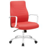 Modway Modern Depict Mid Back Adjustable Computer Aluminium Office Chair - Minimal & Modern - 13