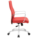 Modway Modern Depict Mid Back Adjustable Computer Aluminium Office Chair - Minimal & Modern - 14