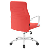 Modway Modern Depict Mid Back Adjustable Computer Aluminium Office Chair - Minimal & Modern - 15