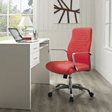 Modway Modern Depict Mid Back Adjustable Computer Aluminium Office Chair - Minimal & Modern - 16