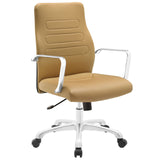 Modway Modern Depict Mid Back Adjustable Computer Aluminium Office Chair - Minimal & Modern - 9