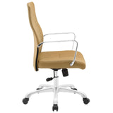 Modway Modern Depict Mid Back Adjustable Computer Aluminium Office Chair - Minimal & Modern - 10