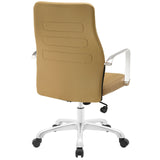 Modway Modern Depict Mid Back Adjustable Computer Aluminium Office Chair - Minimal & Modern - 11