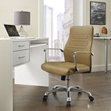 Modway Modern Depict Mid Back Adjustable Computer Aluminium Office Chair - Minimal & Modern - 12