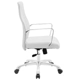 Modway Modern Depict Mid Back Adjustable Computer Aluminium Office Chair - Minimal & Modern - 6