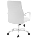 Modway Modern Depict Mid Back Adjustable Computer Aluminium Office Chair - Minimal & Modern - 7