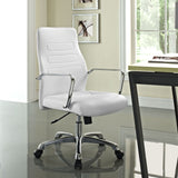 Modway Modern Depict Mid Back Adjustable Computer Aluminium Office Chair - Minimal & Modern - 8