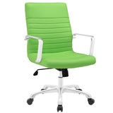 Modway Modern Finesse Mid Back Adjustable Computer Office Chair - Minimal & Modern - 29