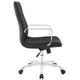 Modway Modern Finesse Mid Back Adjustable Computer Office Chair - Minimal & Modern - 26