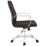 Modway Modern Finesse Mid Back Adjustable Computer Office Chair - Minimal & Modern - 22
