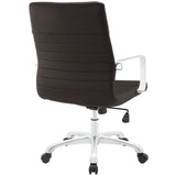 Modway Modern Finesse Mid Back Adjustable Computer Office Chair - Minimal & Modern - 23