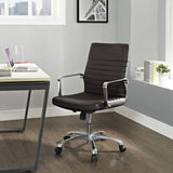 Modway Modern Finesse Mid Back Adjustable Computer Office Chair - Minimal & Modern - 24
