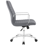 Modway Modern Finesse Mid Back Adjustable Computer Office Chair - Minimal & Modern - 18